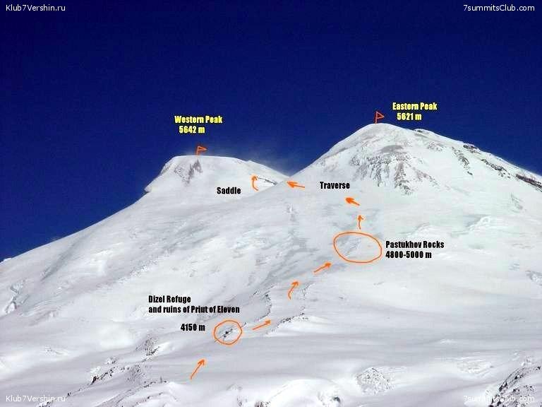 کوه البروس ، یک آتشفشان خفته در کوه های قفقاز در جنوب روسیه. در نزدیکی مرز گرجستان. این کوه به عنوان بلندترین در قاره اروپا شناخته میشود.