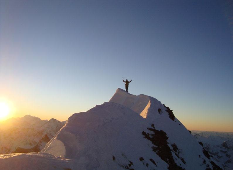 غروب در قله ماترهورن