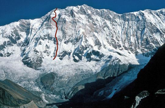 صعود به رخ جنوبی آناپورنا به قله اولی اشتک در سال 2013 ، بازگردان به فارسی موج کوه ، منبع : آلپینیست.