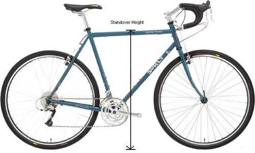 اندازه دوچرخه