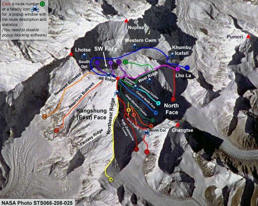 مسیرهای قله اورست