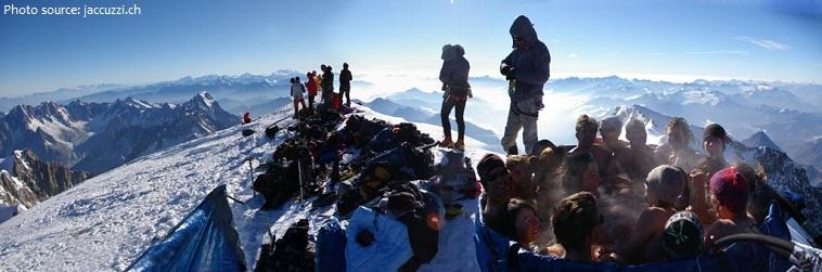 جکوزی پارتی در قله مون بلان!