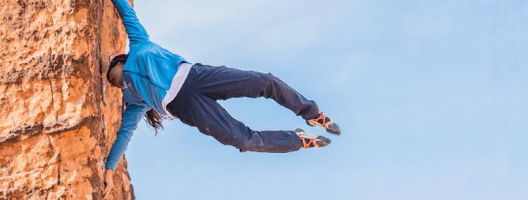 تمرین سنگنوردی برای افراد با قد کوتاه
