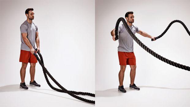 نمونه تمرین بدنسازی با بتل روپ
