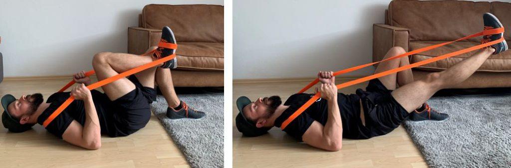 تمرین کوهنوردی کش ورزشی