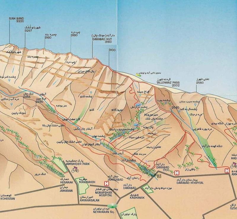 مسیرهای کوهنوردی قله دارآباد